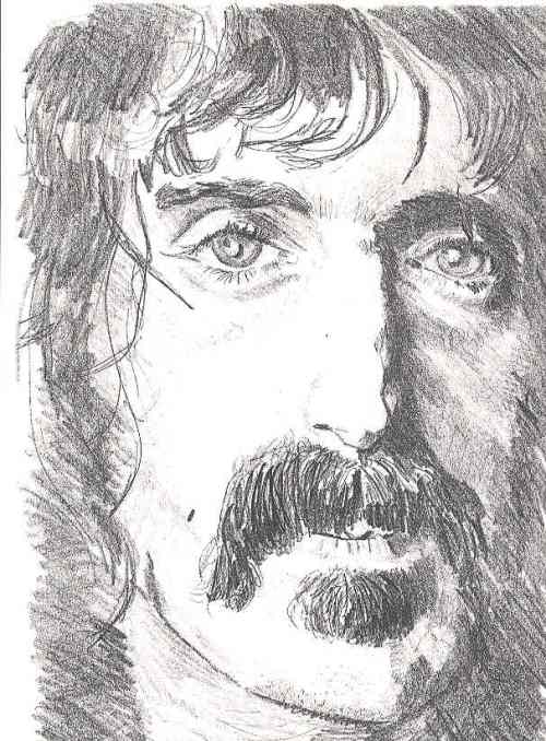 Frank Zappa Front Cover - Zappa Drawing